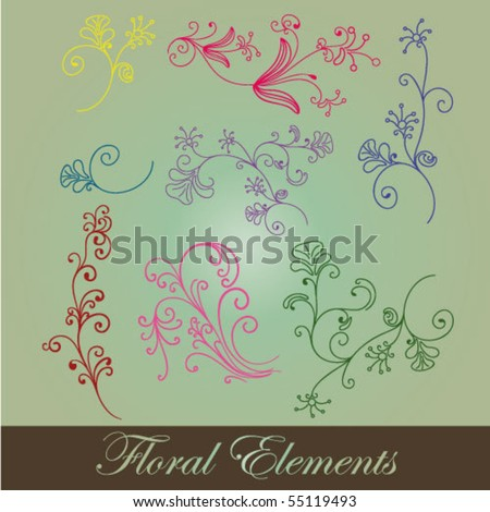 Vintage patterns for design. - stock vector