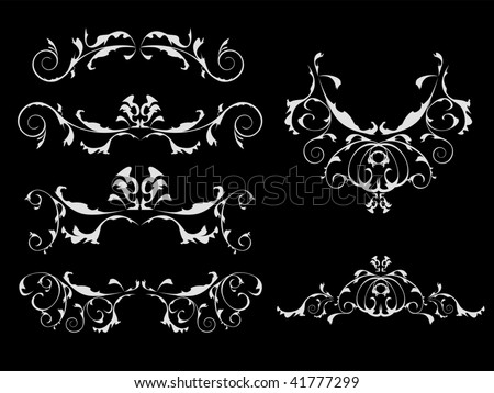 Vintage patterns for design. All can be edited - stock vector