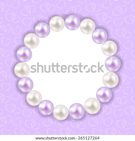 Vintage Pearl Frame Background. Vector Illustration - stock vector
