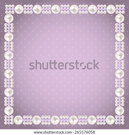 Vintage Pearl Frame Background. Vector Illustration EPS10  - stock vector