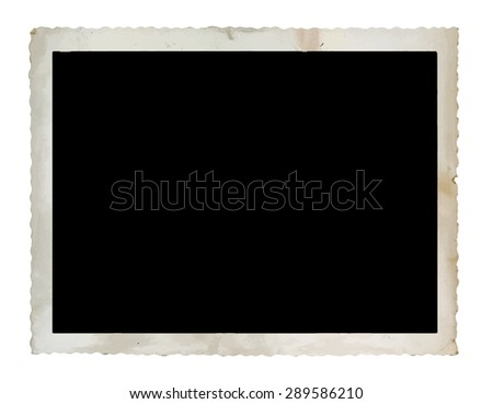 vintage photograph isolated on white background, vector - stock vector