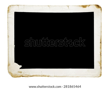 vintage photograph, vector - stock vector