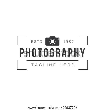 Vintage Photography Logo Design Template Stock Vector 609637706 ...