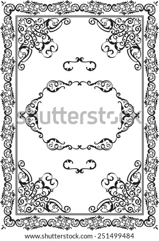 Vintage picture is on white - stock vector