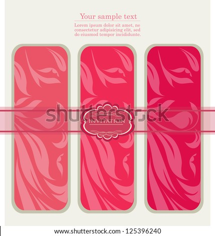 Vintage pink tags , new year brochure, banner, border, wallpaper, template, texture vector eps 10 - stock vector