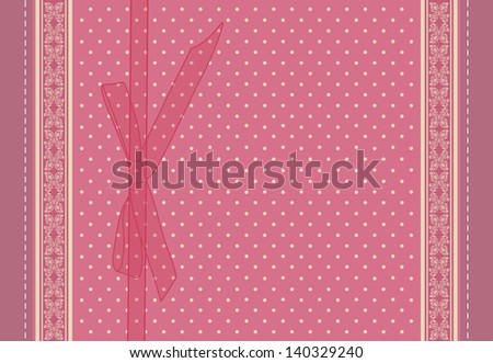 Vintage pink wedding card vector eps 10 - stock vector