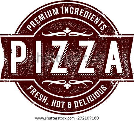 Vintage Pizza Pizzeria Sign - stock vector