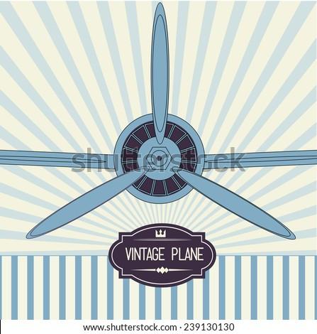 Vintage plane design element - vector illustration - stock vector