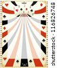 Vintage poker background.  A poker background for your poker tour. - stock photo
