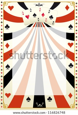 Vintage poker background.  A poker background for your poker tour. - stock vector
