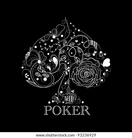 Vintage poker pattern - stock vector