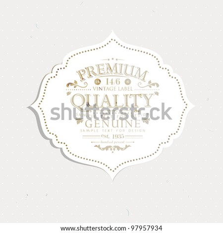 Vintage polka dot card - stock vector