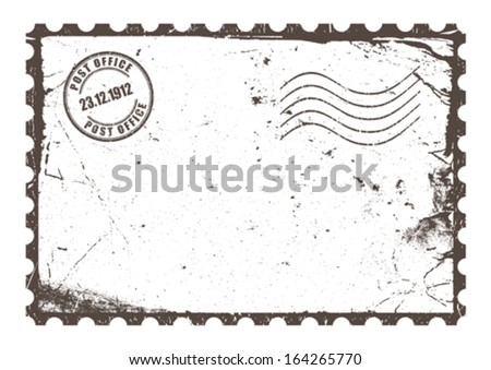 Vintage post card - stock vector