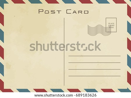 Vintage Postcard Design With Paper Background Texture