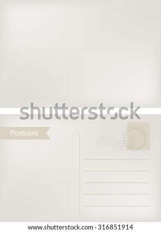 Vintage postcard.Old postcard.Vector illustration. - stock vector
