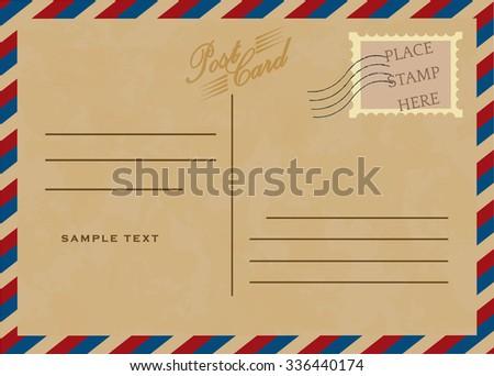 Vintage postcard, vector design - stock vector