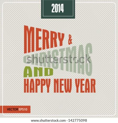Vintage Poster Art - Merry Christmas - stock vector