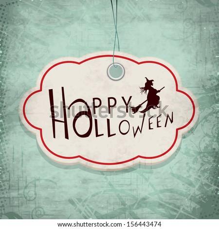 Vintage poster, banner or flyer for Happy Halloween parties.  - stock vector