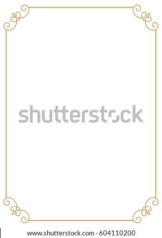 vintage premium a4 size frame border divider for your design menu website certificate and other