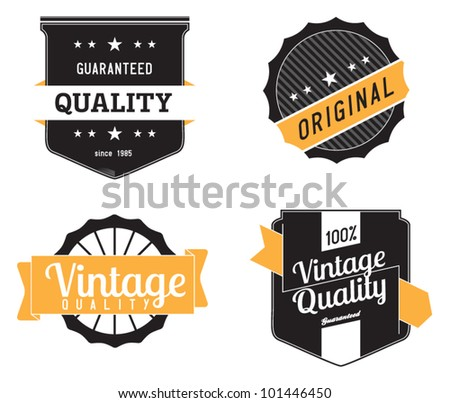 Vintage Premium Labels - stock vector