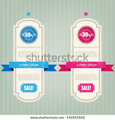 vintage price label - stock vector