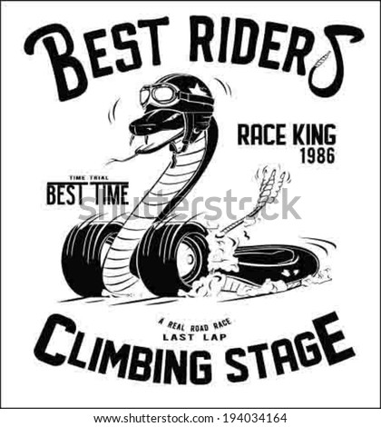 vintage race car for printing. - stock vector