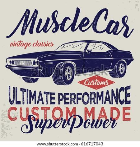Vintage Racing Car Tshirt Graphics Vintage Stock Vector 616717043