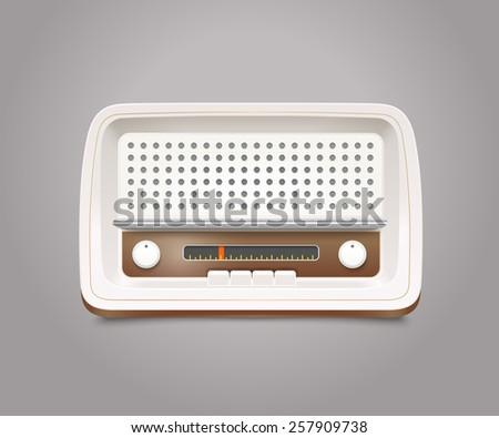 Vintage radio illustration - stock vector