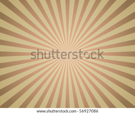 Vintage rays background. - stock vector