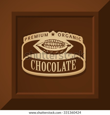 chocolate bar label template - eva kali 39 s chocolate logo templates set on shutterstock