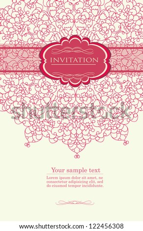 Vintage red Christmas background for invitation, backdrop, card, new year brochure, banner, border, wallpaper, template, texture  vector eps 10 - stock vector