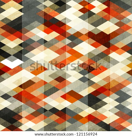 vintage red rhombus seamless pattern - stock vector