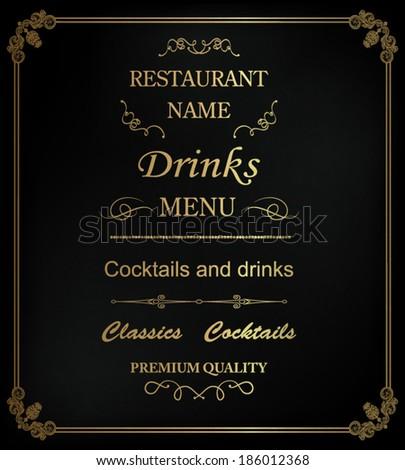 Vintage restaurant background - stock vector