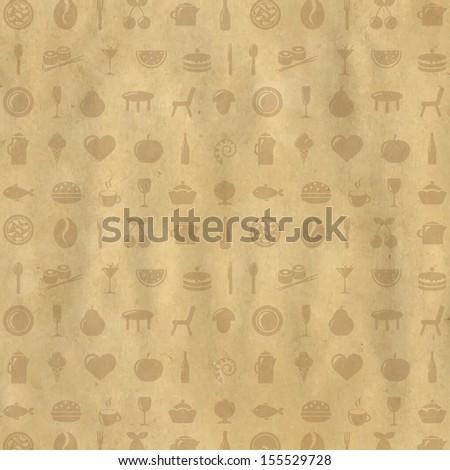 Vintage Restaurant Background, Vector Illustration - stock vector