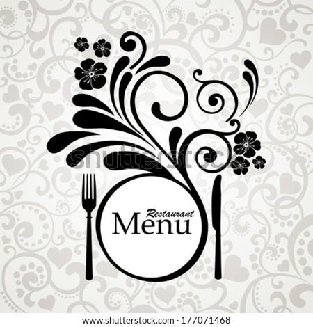 Vintage restaurant menu. Design elements isolated on White background. Vector illustration  - stock vector
