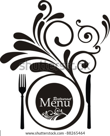 Vintage restaurant menu. Design elements isolated on White background. Vector illustration - stock vector