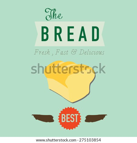 Vintage retro bakery badge and label. Vector Illustration - stock vector