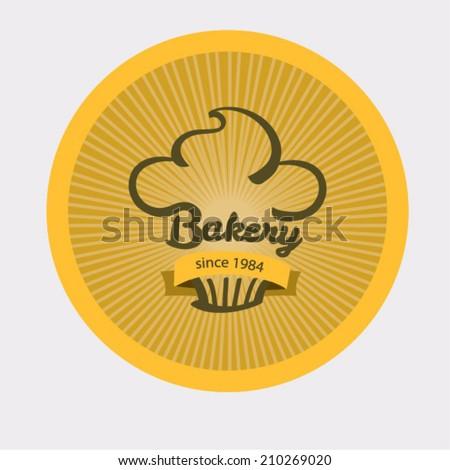 Vintage retro bakery logo badge. - stock vector