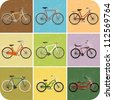 Vintage Retro Bicycle Background - stock vector
