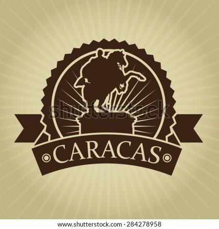 Vintage Retro Caracas Seal - stock vector