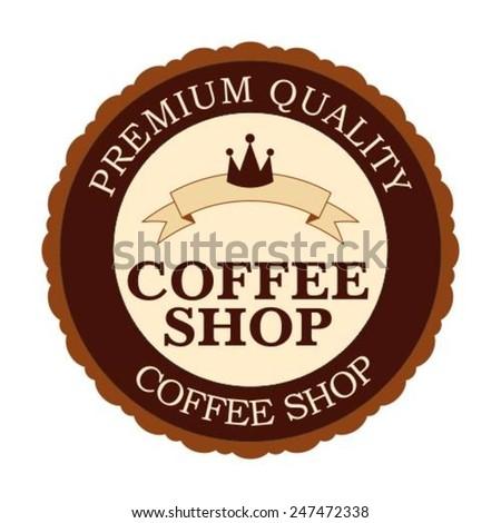 Vintage Retro Coffee Badges - stock vector