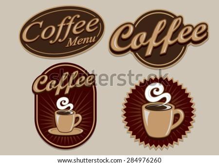 Vintage Retro Coffee Designs - stock vector