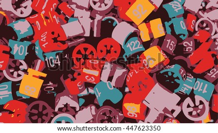 Vintage Retro Grunge Abstract Background Vector - stock vector