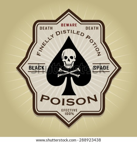 Vintage Retro Poison Label