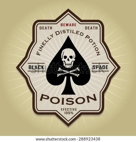 Vintage Retro Poison Label  - stock vector