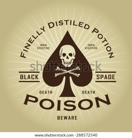 Vintage Retro Poison Seal - stock vector
