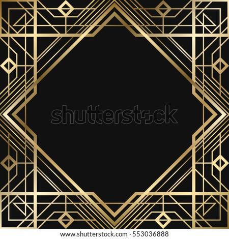 Vintage Retro Style Invitation Art Deco Stockvector 552357799