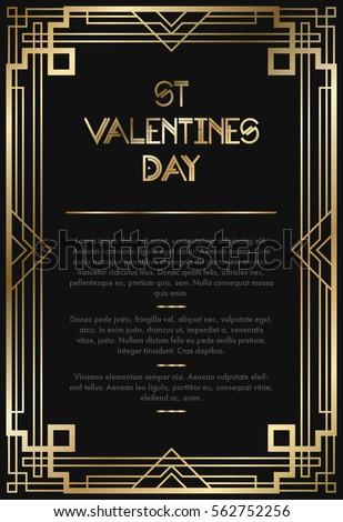 Vintage Retro Style Invitation Art Deco Stock Vector 562752256 ...