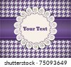 vintage retro vector cute frame on the seamless tablecloth pattern - stock vector