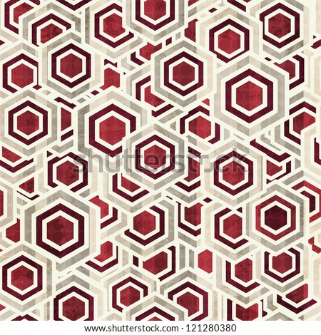 vintage rhombus white and red color seamless - stock vector